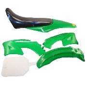 Carenage vert dirt bike type AGB27 orion AGB 27 Sohoo 99 TTR90
