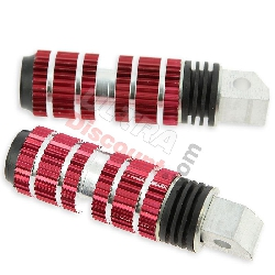 Cales pieds rouge Tuning type2 pour YAMAHA PW80
