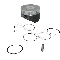Kit piston Quad 107 - 110 cc avec revètement molybdéne (type 1)