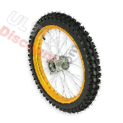 Roue Avant 17'' pour Dirt Bike AGB30 - Or