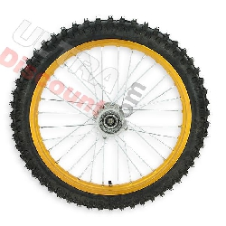 Roue Avant 19'' pour Dirt Bike AGB30 - Or