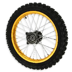 Roue Avant 14'' Or pour Dirt Bike AGB29