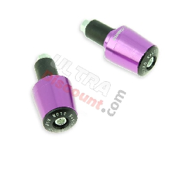 Embout de guidon Tuning violet (type7) pour quads Shineray 300
