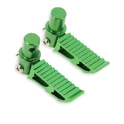 Cales pieds vert Tuning type3 pour Pocket Bike