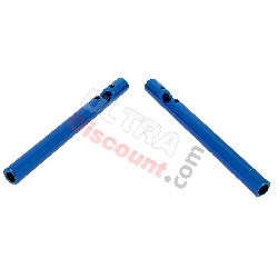 Guidon Tuning pour Pocket Bike Polini 911 - GP3 (Bleu)