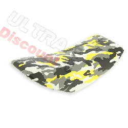 Selle camouflage jaune pour supermotard
