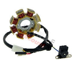 Stator pour Scooter Chinois 50cc 4temps (4 fils)