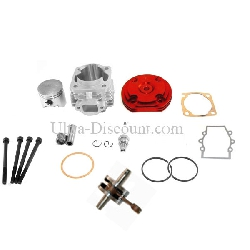Kit 53cc 4 transferts + Vilebrequin Racing axe 12mm(typeB ROUGE)
