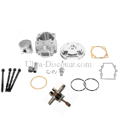 Kit 53cc 4 transferts + Vilebrequin Racing axe 12mm (type B ALU)
