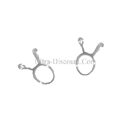 Lot de 2 colliers 8mm pour durite de Quad Bashan 250cc (BS250AS-43)